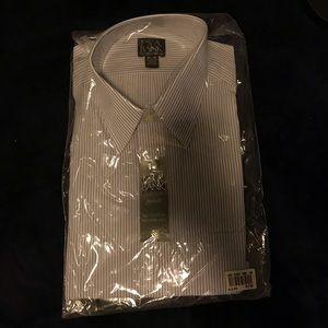 Jos. A. Bank Traveler Vertical Stripe Dress Shirt